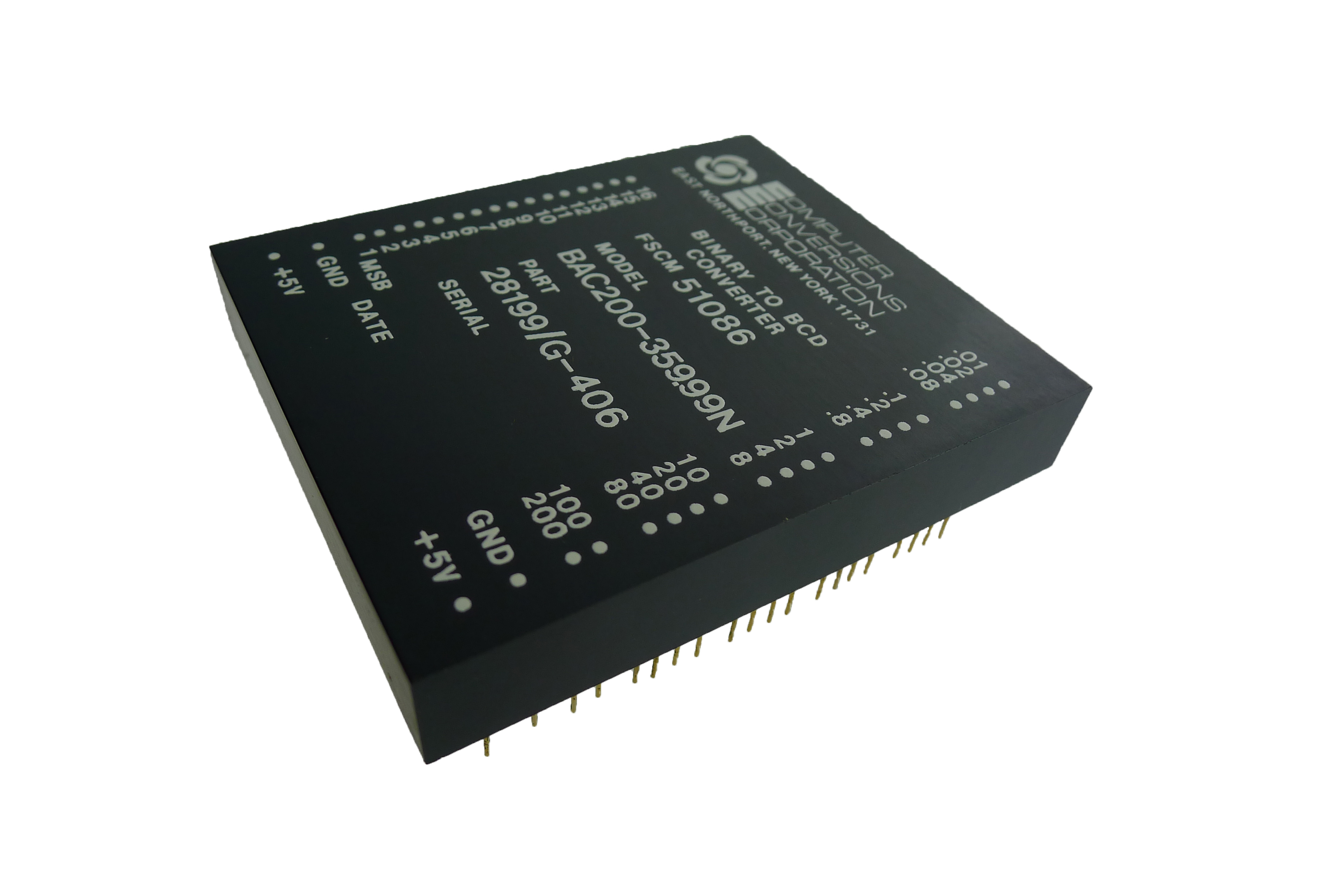 Bac200 Series Computer Conversions Corporation Bit Binary To Bcd Converter Circuit Click Zoom